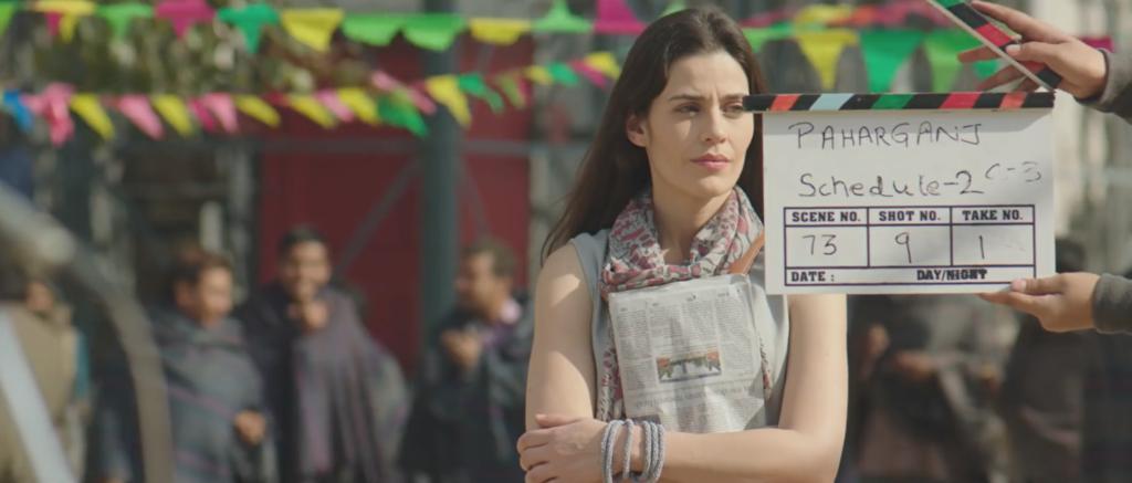 Lorena Franco en el rodaje de Paharganj