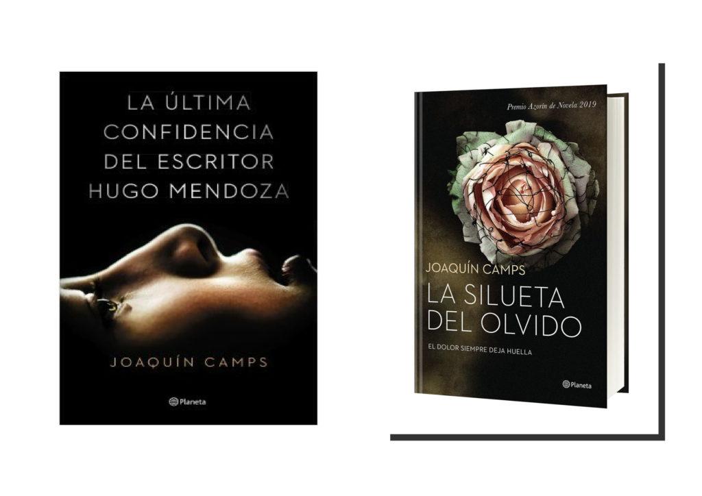La última confidencia del escritor Hugo Mendoza (2015) y La silueta del olvido (2019), las novelas publicadas de Joaquín Camps