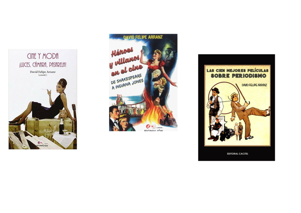 Algunos de los libros de David Felipe Arranz