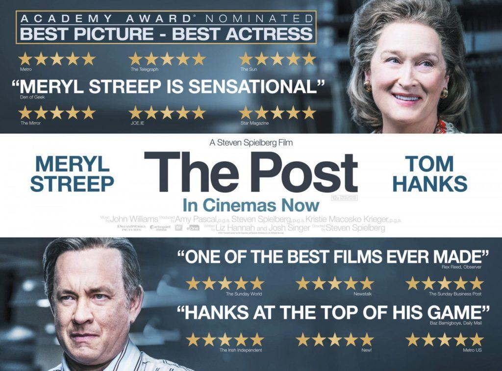 Meryl Streep y Tom Hanks dan vida a Katherine Graham y Ben Bradlee. The post está basada en hechos reales en ella  se narra cómo lucharon ante la libertad de expresión en 1971 en EE.UU