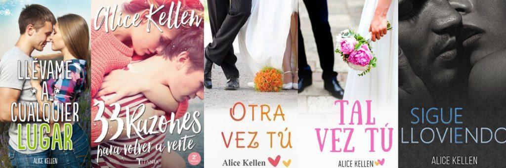 Algunos de los títulos publicados de Alice Kellen