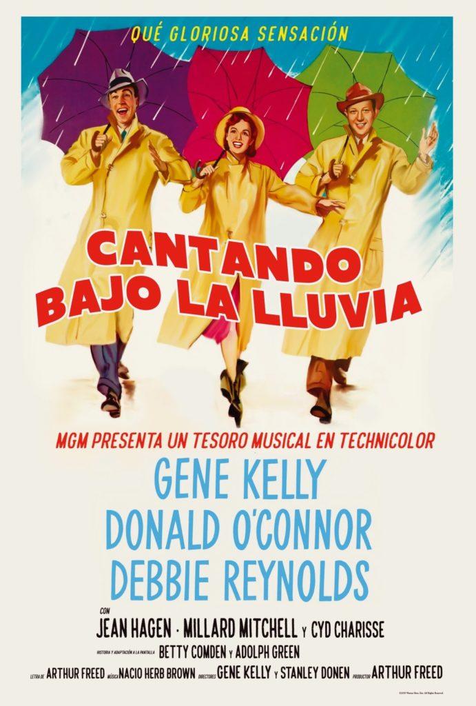 Cartel de Cantando bajo la lluvia, estrenos de 2 de agosto de 2019