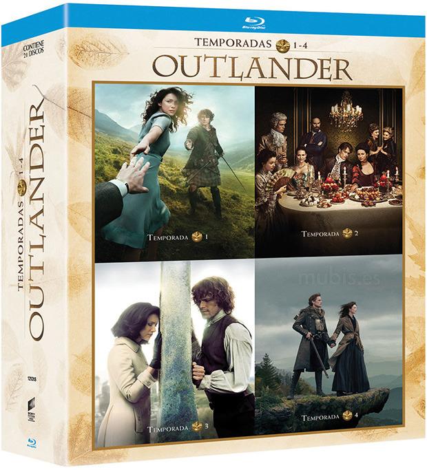 outlander temporadas 1 a 4 blu ray l cover