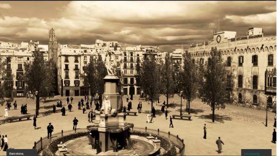 Imagen de la Barcelona del siglo XIX, tal y como se refleja en Desaparecida en Siboney