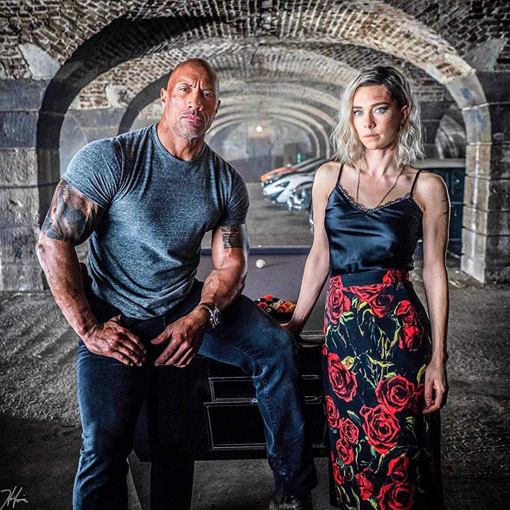 Dwayne Johnson y Vanessa Kirby