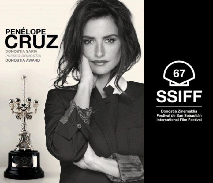 Penélope Cruz, Premio Donostia 67SSIFF