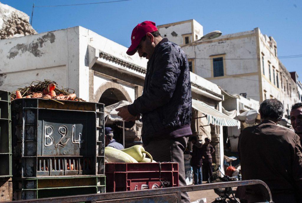 Mercado en una ciudad marroquí