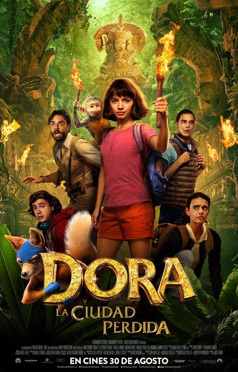 Cartel de Dora y la ciudad perdida, estrenos del 30 de agosto de 019