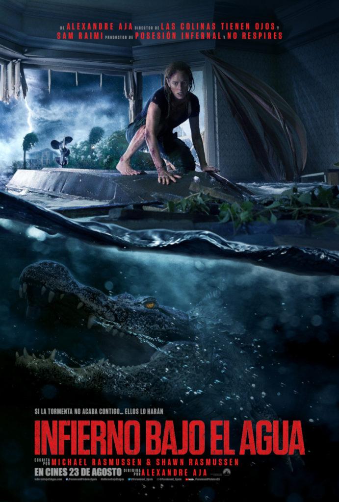 Cartel de Infierno bajo el agua