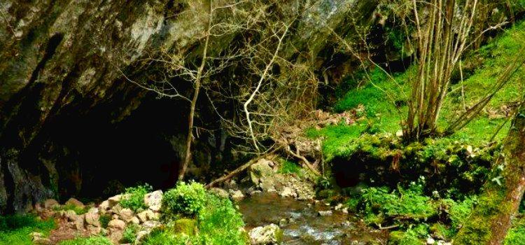 Foto de la Cueva del Sidrón ( Asturias), en este lugar se halló el primer cadáver de la novela La huella del mal