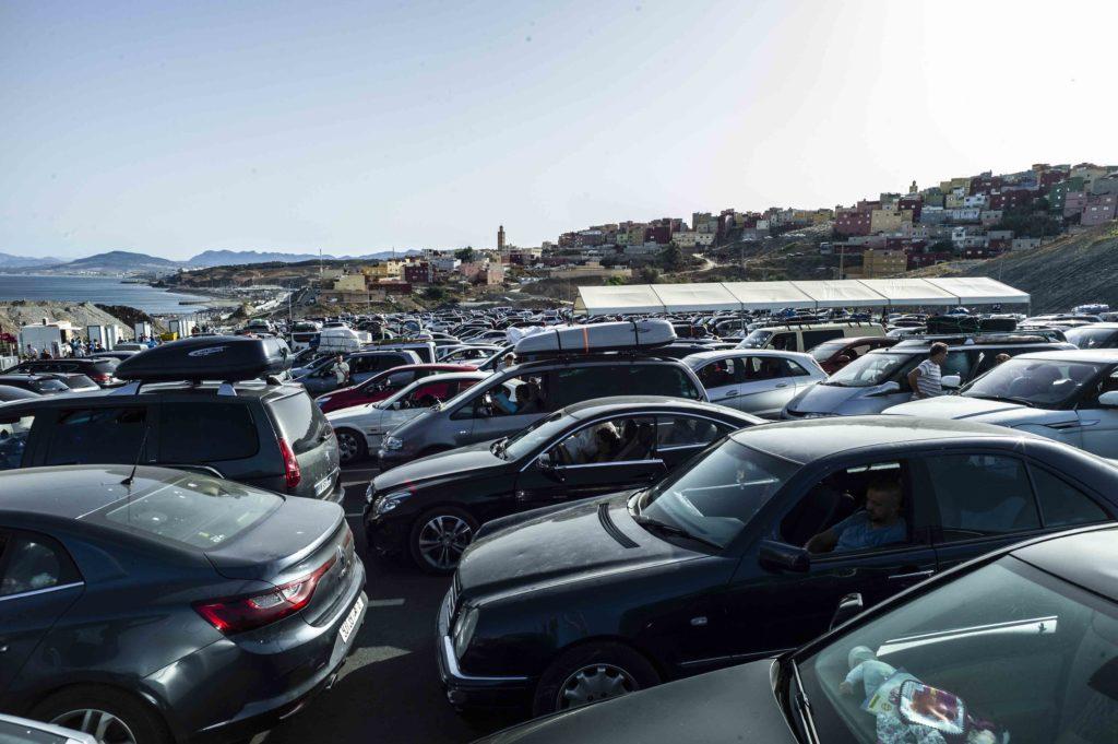 Zona de espera en Ceuta