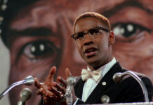 Denzel Washington como Malcolm X