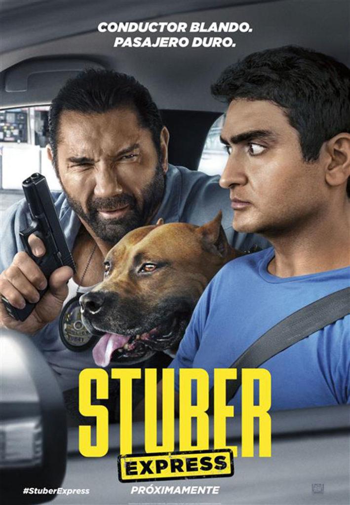 Cartel Stuber Express, estrenos de 23 de agosto de 2019