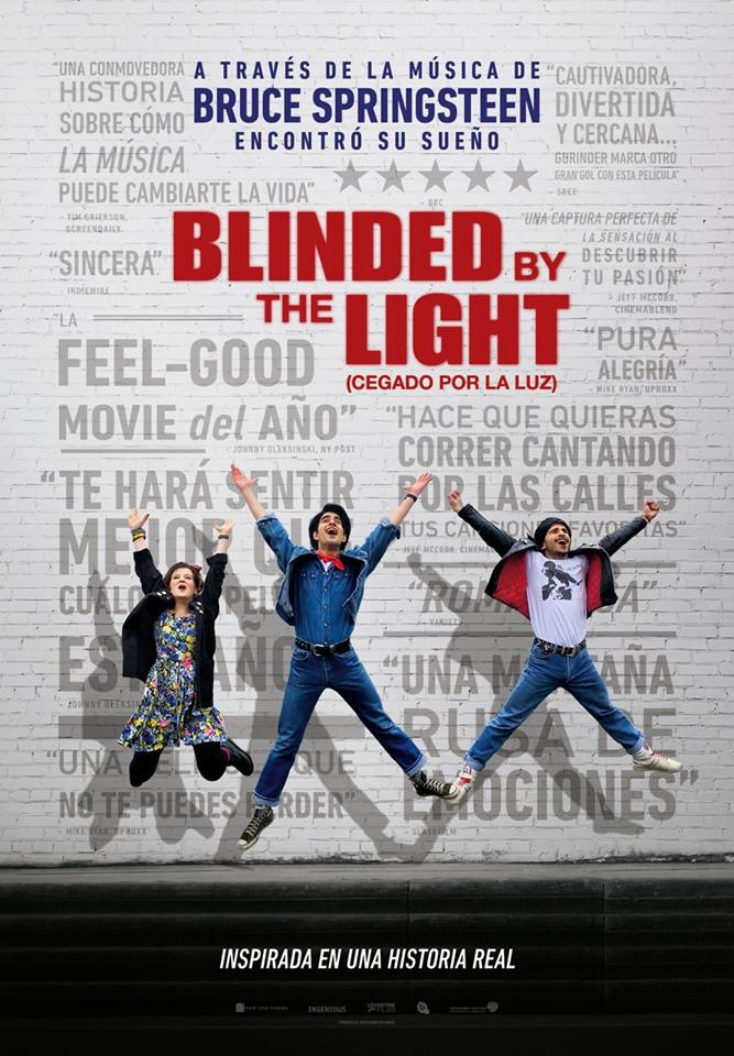 Cartel de Blinded by the Light (Cegado por la luz)