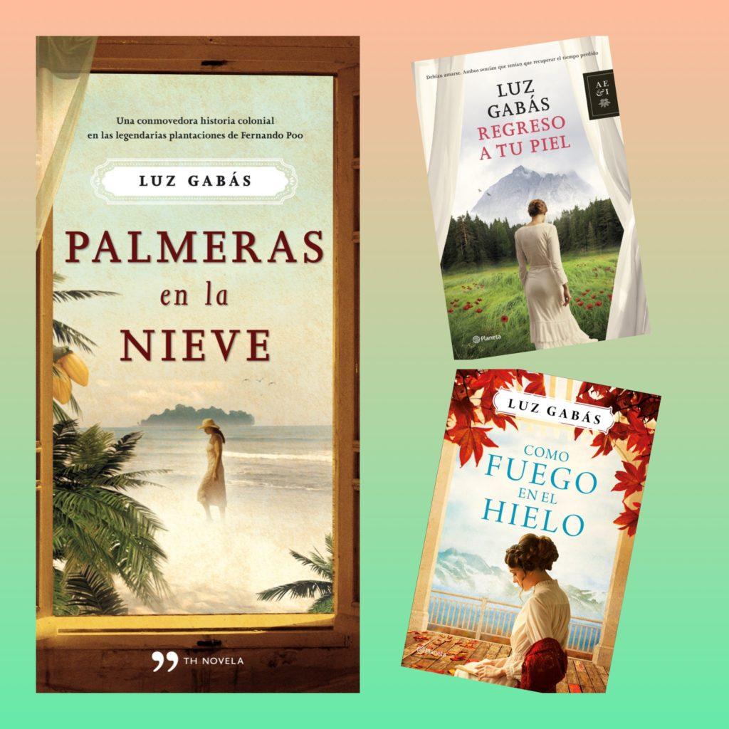 Portadas de todas las novelas de Luz Gabás