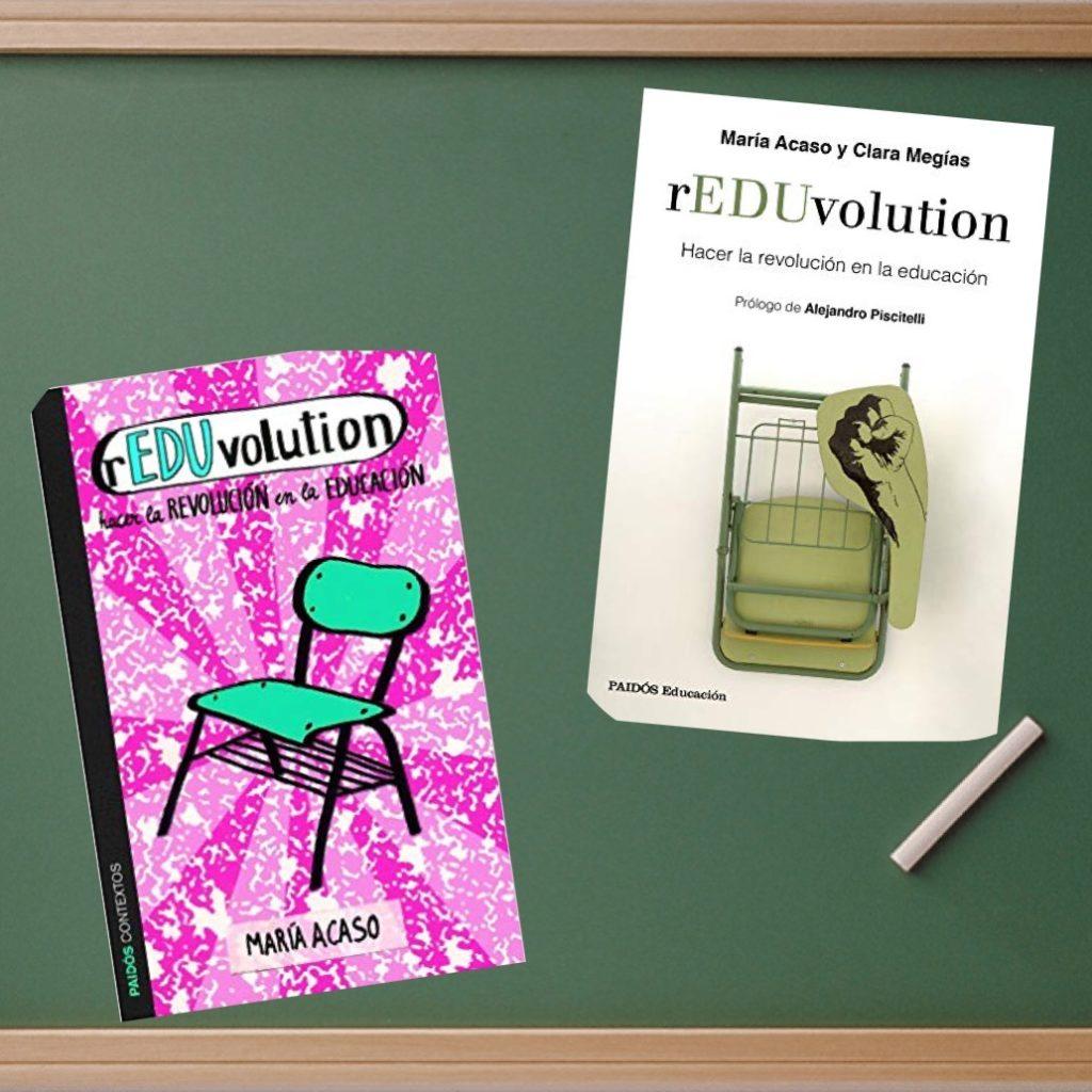 Las dos ediciones del libro rEDUvolution de María Acaso y Clara Megías