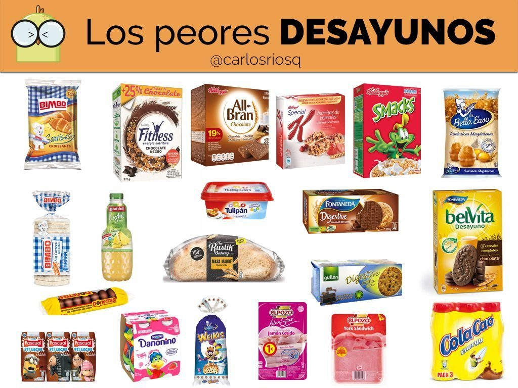 Los 15 peores desayunos según Carlos Ríos