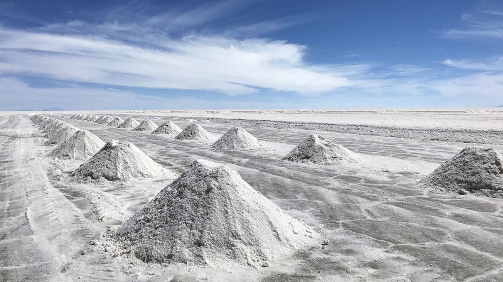 El salar de Uyuni es donde sucede la mayor parte de Flor de sal