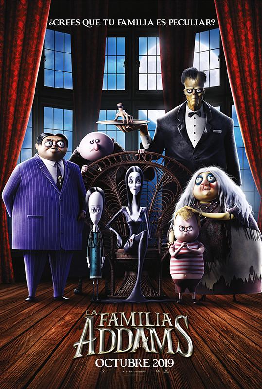Cartel de La familia Addams, estrenos del 25 de octubre
