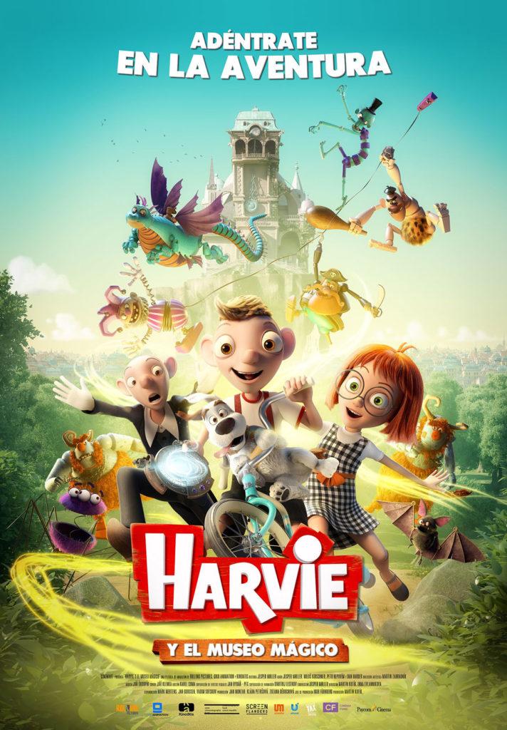 Cartel de Harvie y el museo mágico, estrenos del 18 de octubre