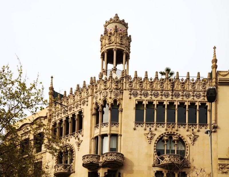 La casa Lleó Morera, unos de los lugares más emblemáticos de Barcelona y que aparecen en El pintor de almas