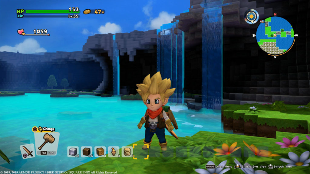 Interfaz de Dragon Quest Builders 2