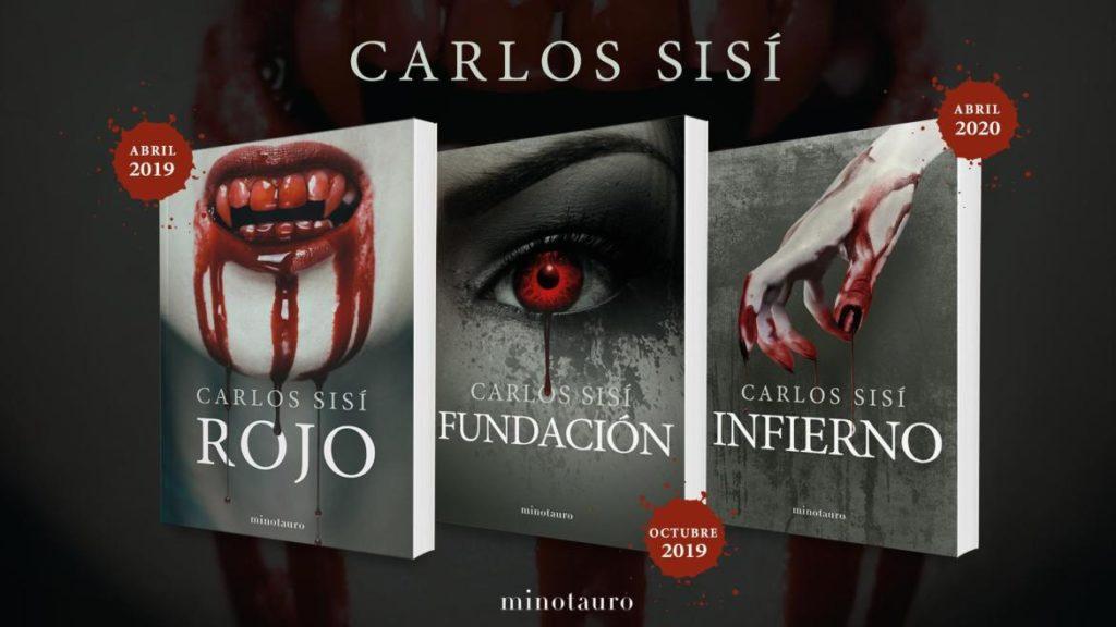 Trilogía Rojo de Carlos Sisí, apuesta segura para leer en Halloween