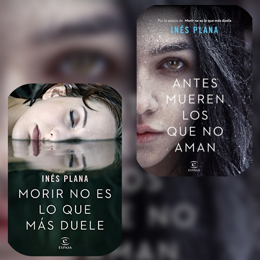 Portadas de los libros Morir no es lo que más duele y Antes mueren los que no aman