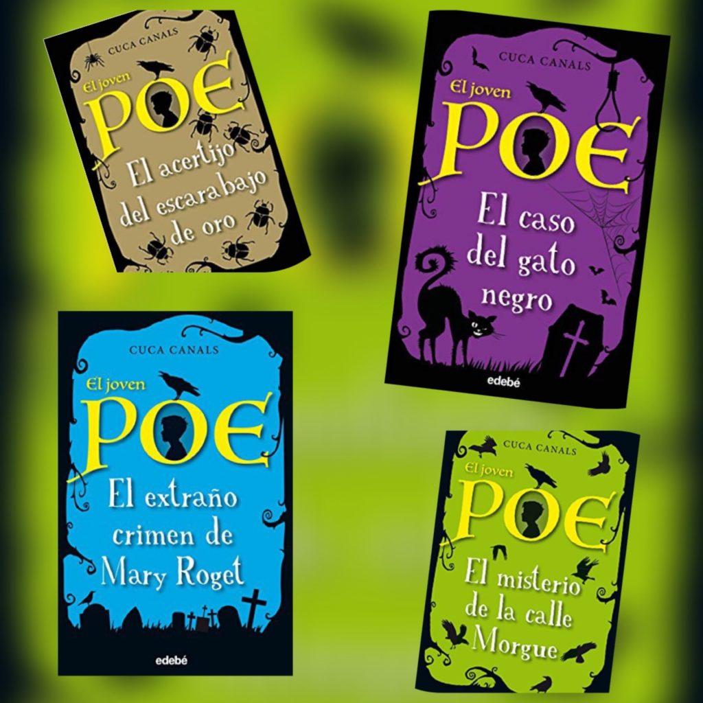 Portadas de El joven Poe de Cuca Canals