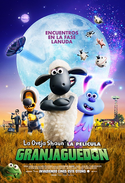 Cartel de  La oveja Shaun. La película: Granjaguedón , estrenos del 31 de octubre