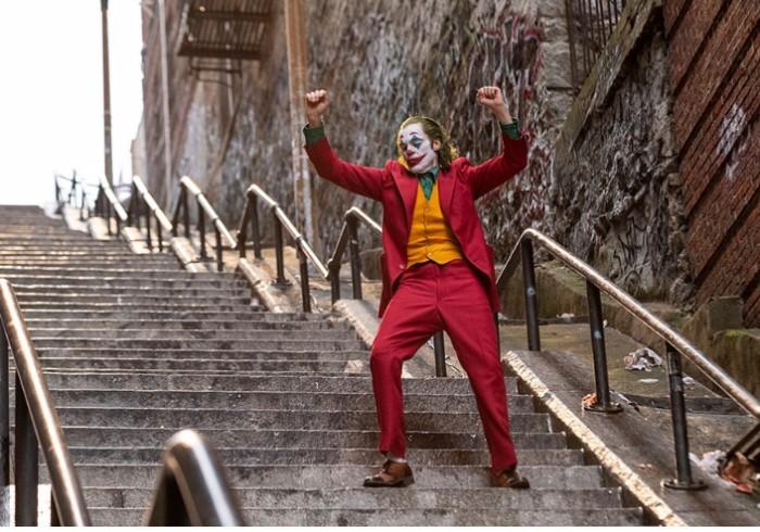 joker en las escaleras