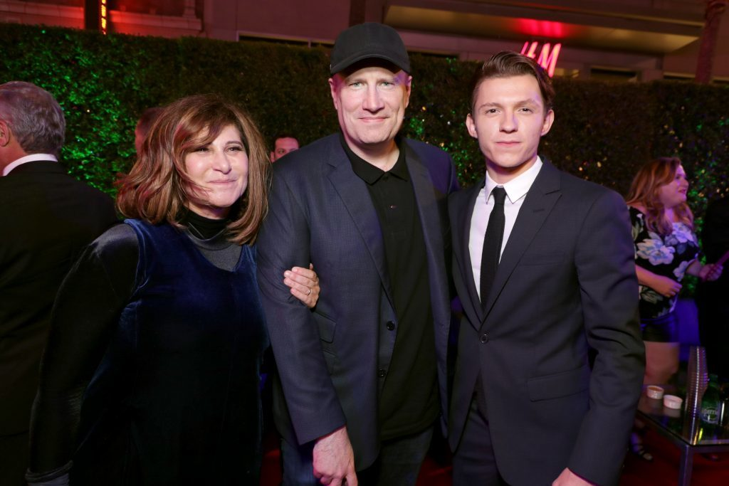 kevin feige amy pascal spider man homecoming tom holland