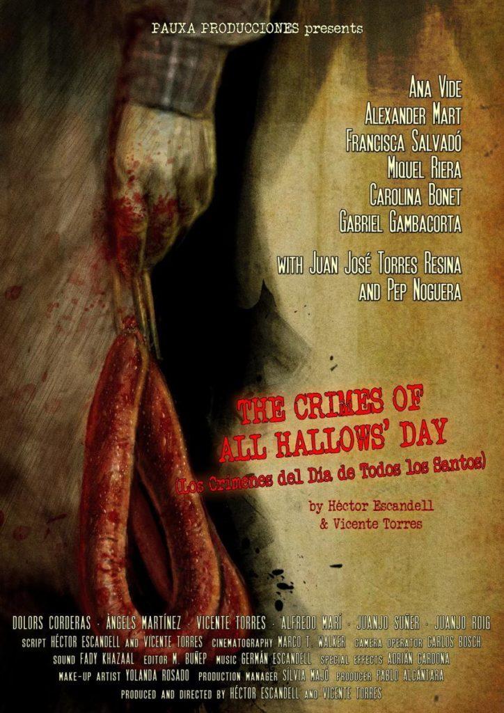 Cartel de Los crímenes del Día de Todos los Santos