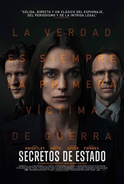 Cartel de Secretos de estado, estrenos del 25 de octubre