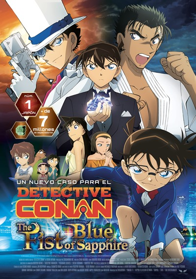 Cartel de Detective Conan: The Fist of Blue Sapphire, estrenos del 8 de noviembre