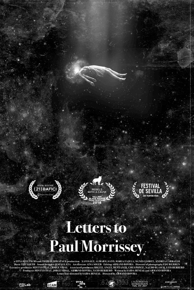 Cartel de Letters to Paul Morrissey, estrenos del 29 de noviembre