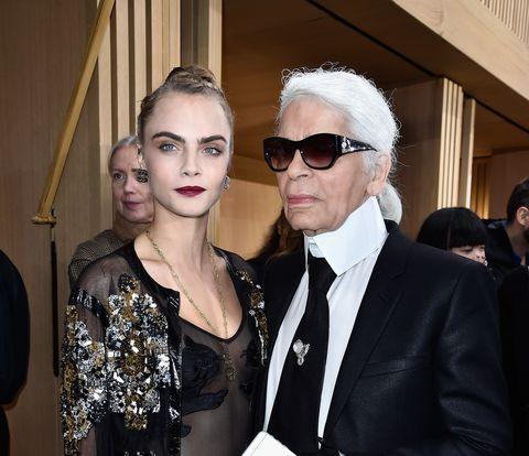 Cara Delevigne y Karl Lagerfeld