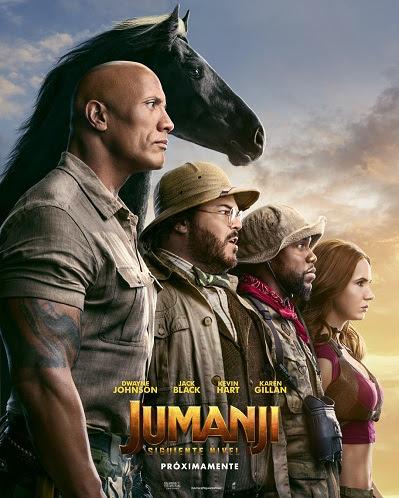 Cartel de Jumanji: Siguiente nivel, estrenos del 13 de diciembre