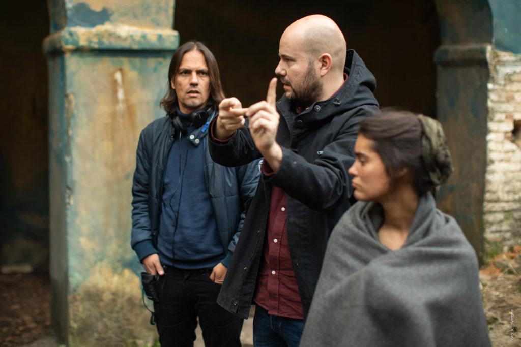 La peste: rodaje con David Ulloa y Rafael Cobos