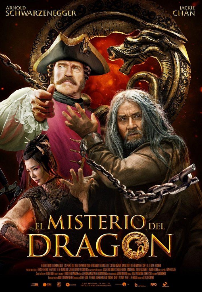 Cartel de El misterio del dragón, estrenos del 10 de enero