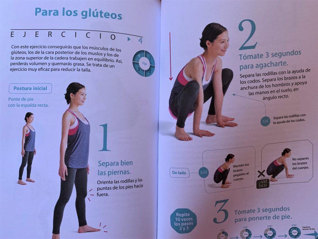 Este es uno de los ejemplos que nos ofrece El método Sakuma Full Body para tonificar los glúteos