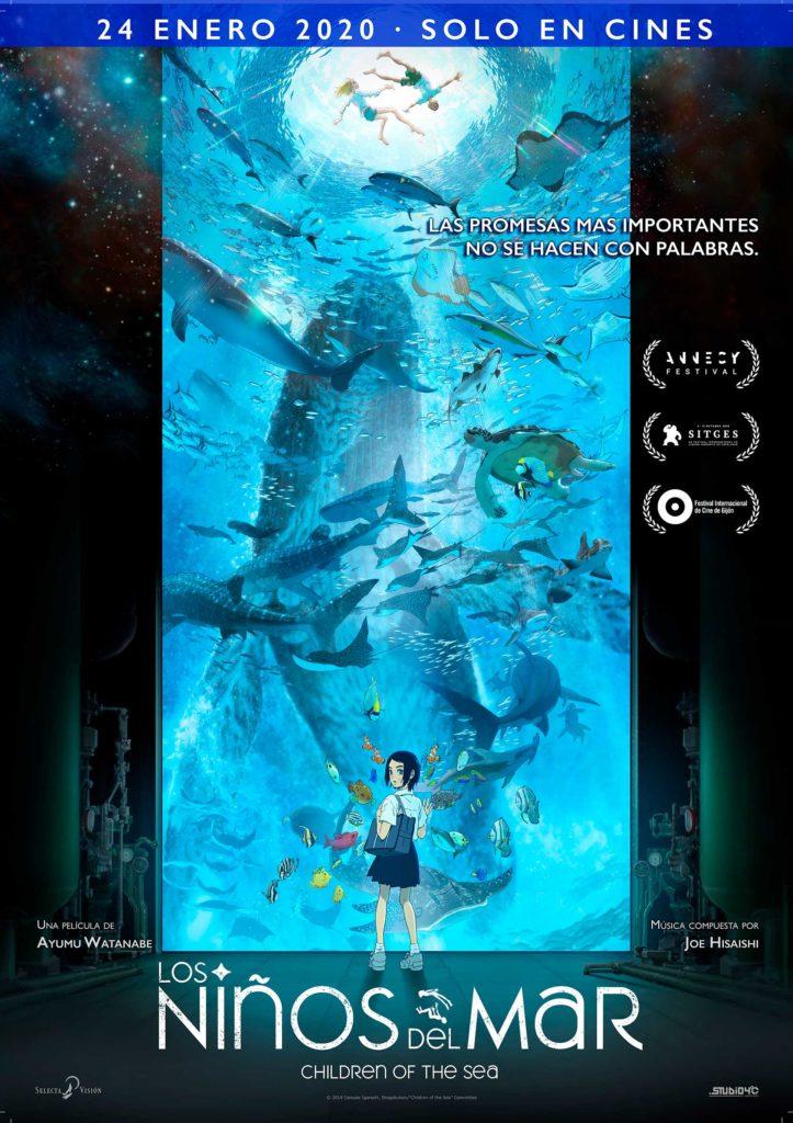 Cartel de Los niños del mar, estrenos del 24 de enero