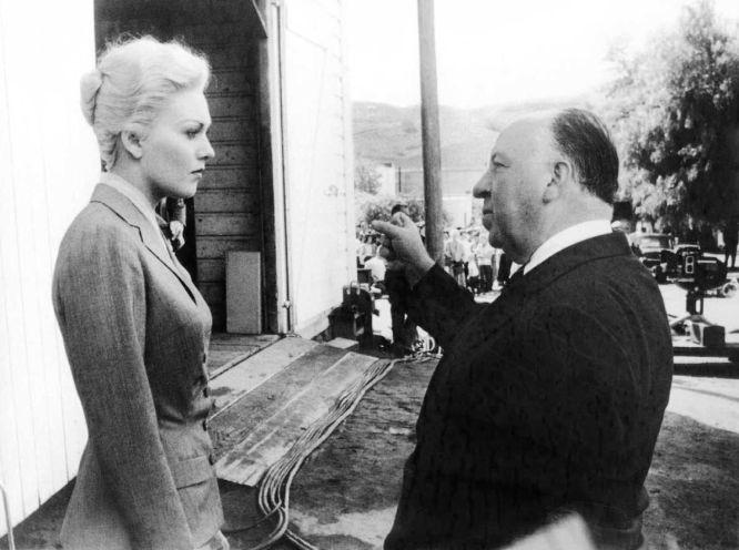 Kim Novak y Alfred Hitchcock