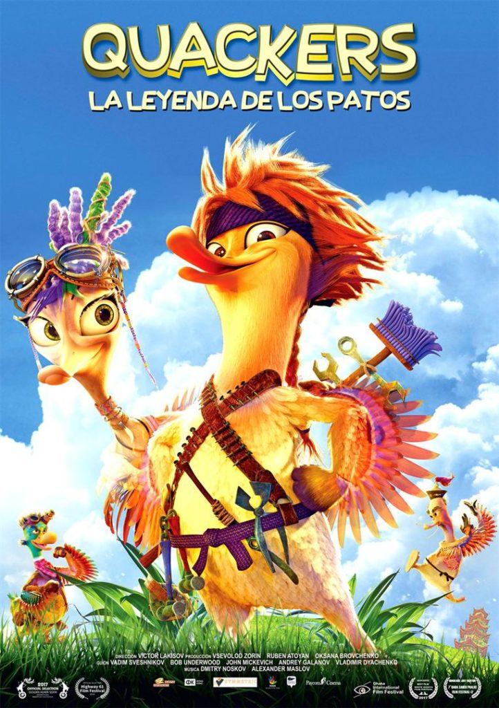 Cartel de Quackers: La leyenda de los patos, estrenos del 31 de enero