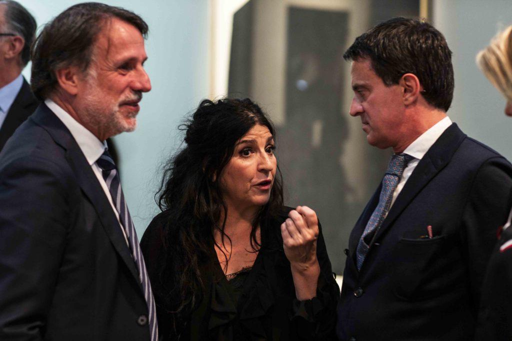 Lita Cabellut con Manuel Valls y Creueras