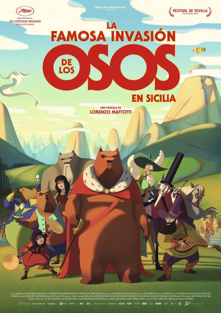 Cartel de La famosa invasión de los osos en Sicilia , estrenos del 28 de febrero