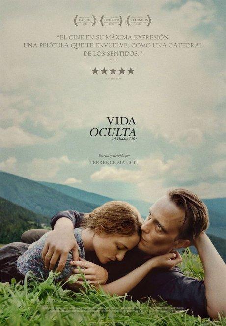 Cartel de Vida oculta, estrenos del 7 de febrero