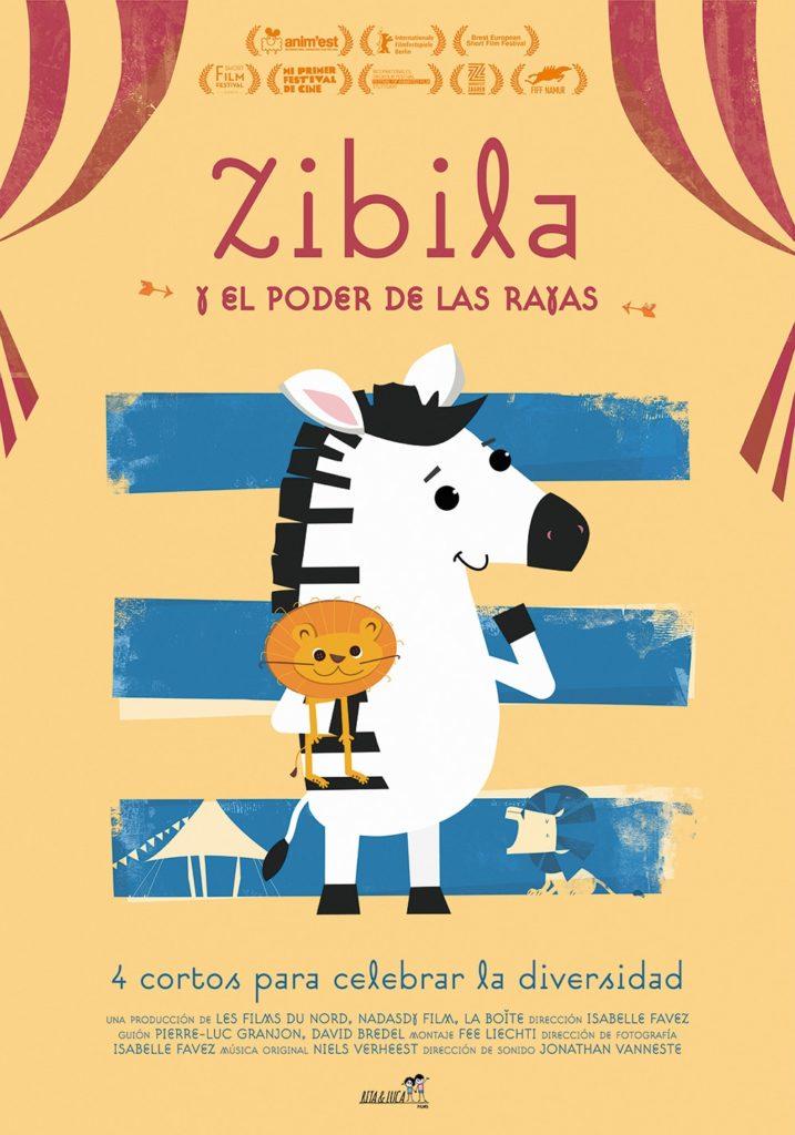 Cartel de Zibila y el poder de las rayas , estrenos del 7 de febrero