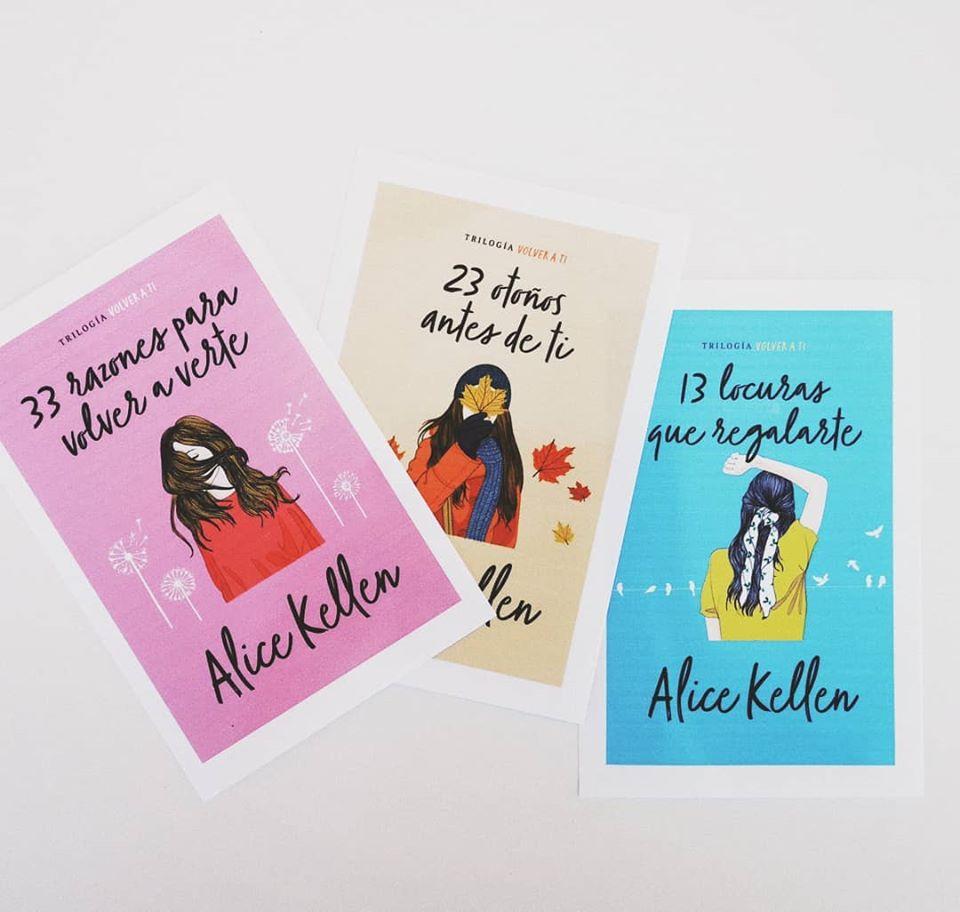 """Libros de la trilogía """"volver a ti"""" de Alice Kellen"""
