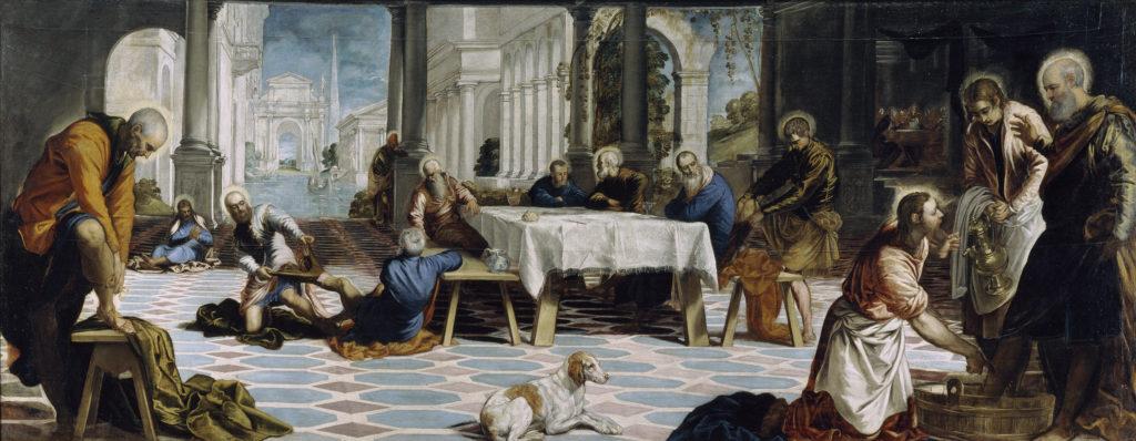 Cuadro 'El lavatorio' de Tintoretto, que se puede visitar en el Museo Nacional del Prado
